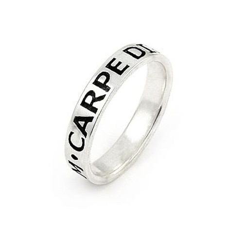 INSPIRATIONAL BAND 4MM CARPE DIEM (SZ 9-11)