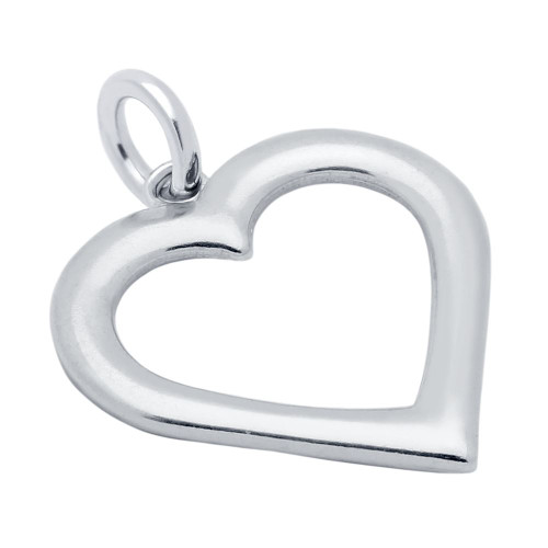 19MM HEART OUTLINE CHARM
