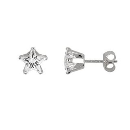 5MM STAR CZ STUD EARRINGS