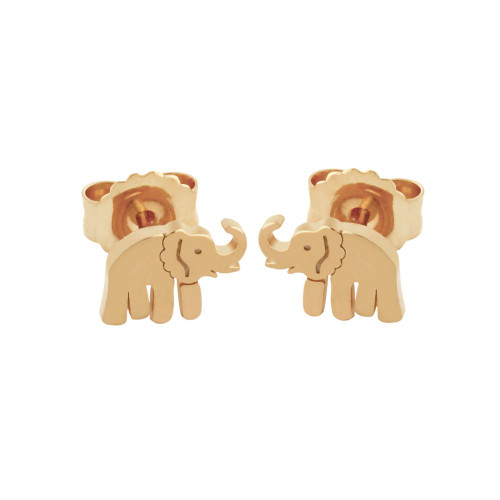 ROSE GOLD PLATED STERLING SILVER ELEPHANT EARRINGS