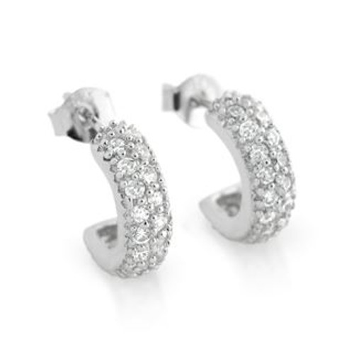 PAVE SET ROUND CZ EARRINGS