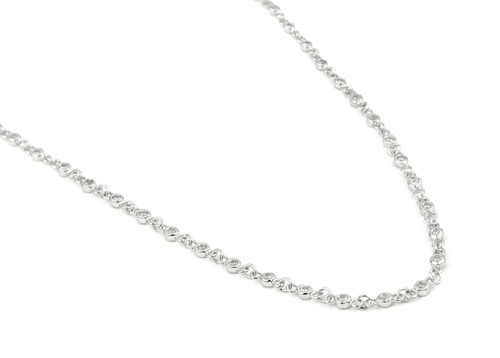 "CZ BY THE YARD NECKLACE 30"" + 2"" WITH CZ PER 1/4 INCH"