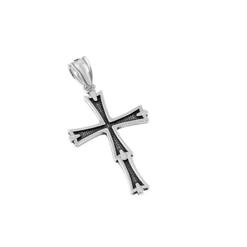 STERLING SILVER 20MM STYLIZED CROSS PENDANT