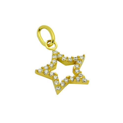 GOLD PLATED CZ STAR PENDANT