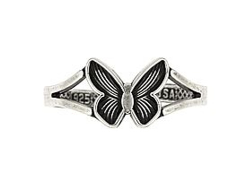 STERLING SILVER BUTTERFLY ADJUSTABLE TOE RING