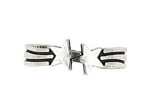 STERLING SILVER DUO STAR ADJUSTABLE TOE RING