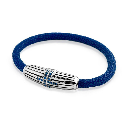 STINGRAY BLUE CZ BRACELET