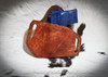 Custom stamp options for leather holster for Sig Sauer