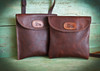 Bison Leather Crossbody Bag  (style 2)  Two styles available.