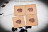 Bear design leather coaster set.