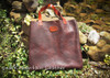 Bison leather tote for everyday use by Ozark Mountain Leather.