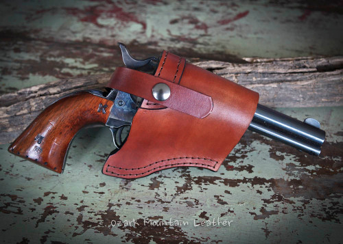 leather Holster for Small to large Size Guns in vegetable tanned leather