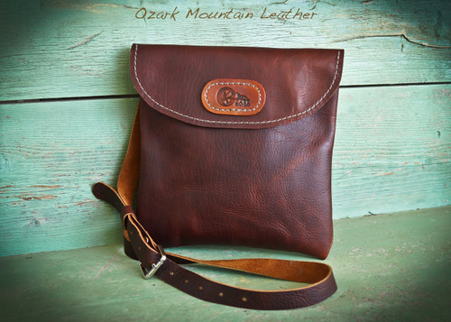 Bison Leather Crossbody Bag (style 1)