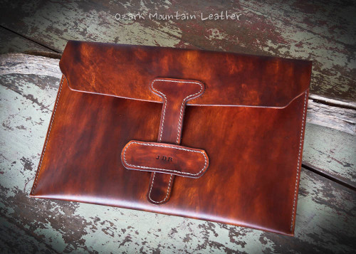 Custom Leather Portfolio for artwork and paperwork.