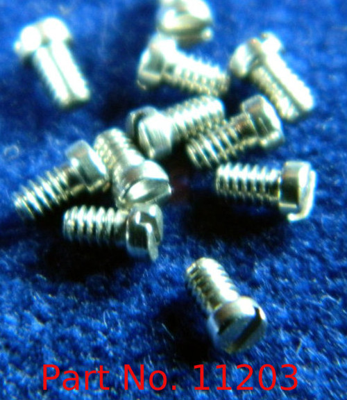 """Machine Screw special, small head, thread M1.4 pitch .30mm (Thread also called  1.40 UNM) head diameter 2.0mm, Length (shank) 2.5mm / 0.100"""" max OAL 3.0mm material Stainless steel, price for 100 pieces, finish color silver  Screw made on precision screw machines"""