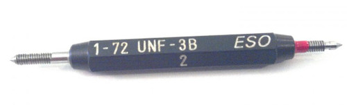 1-72 UNF-3B Thread Plug Gage, HSS Set Go & No-Go