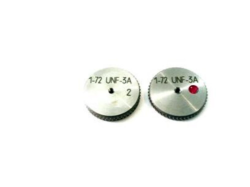 1-72 UNF-3A Thread Ring Gage, HSS Set Go & No-Go