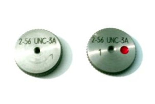 2-56 UNC-3A Thread Ring Gage, HSS Set Go & No-Go