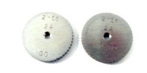 2-56 UNC-2A Thread Ring Gage, HSS Set GO & No-Go DC