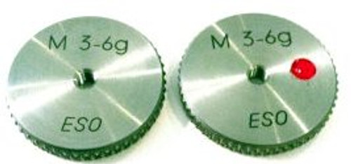 M3.0 -6g Thread Ring Gage, HSS Set Go & No-Go