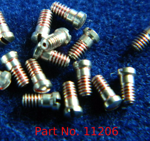 "Machine Screw special, small head, thread M1.4 pitch .30mm (Thread also called  1.40 UNM) head diameter 2.0mm, Length (shank) 2.8mm / 0.110"" max OAL 3.0mm material Stainless steel, price for 100 pieces, finish color silver  Screw made on precision screw machines. Available with and without thread coating."