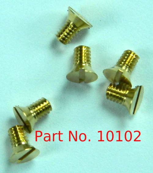 "1-72 Flat Head Slotted Machine Screw, Lenght 1/8"" Full thread to under head Brass Price is for 100 pieces."