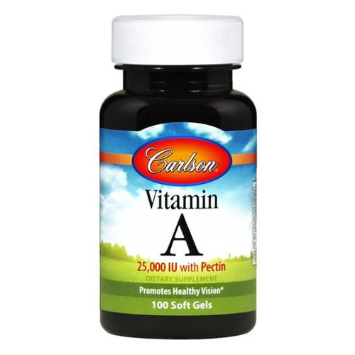 Vitamin A 25,000 with Pectin 100 softgels