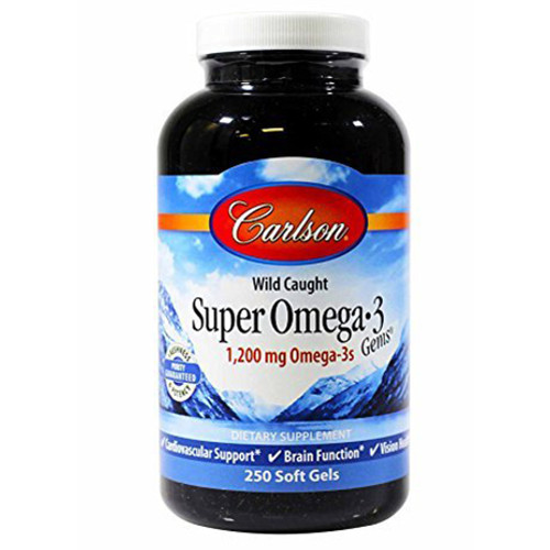 Super Omega-3 Fish Oil 1200 mg 250 softgels