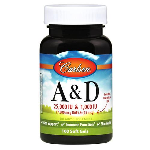 Vitamin A & D 25,000 / 1,000 IU 100 softgels