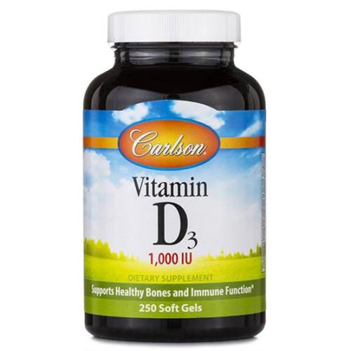 Vitamin D3 1000 IU 250 softgels