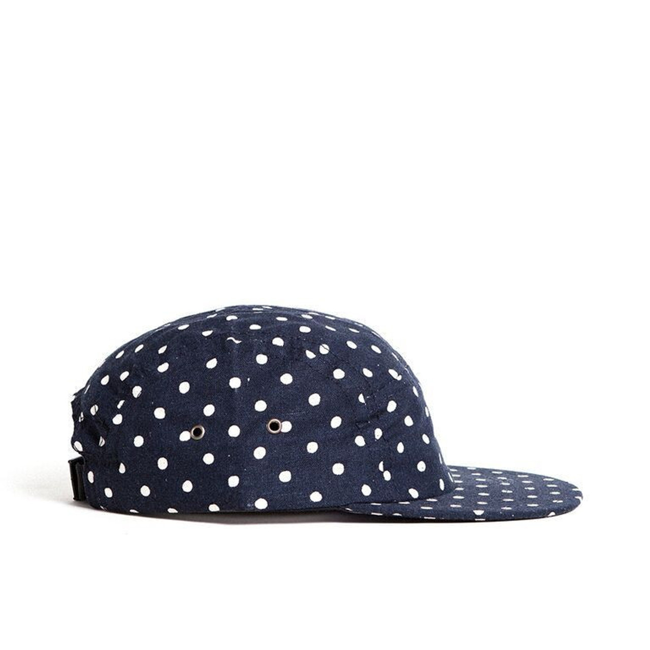 Indigo Polka Dot Youth Camp Cap