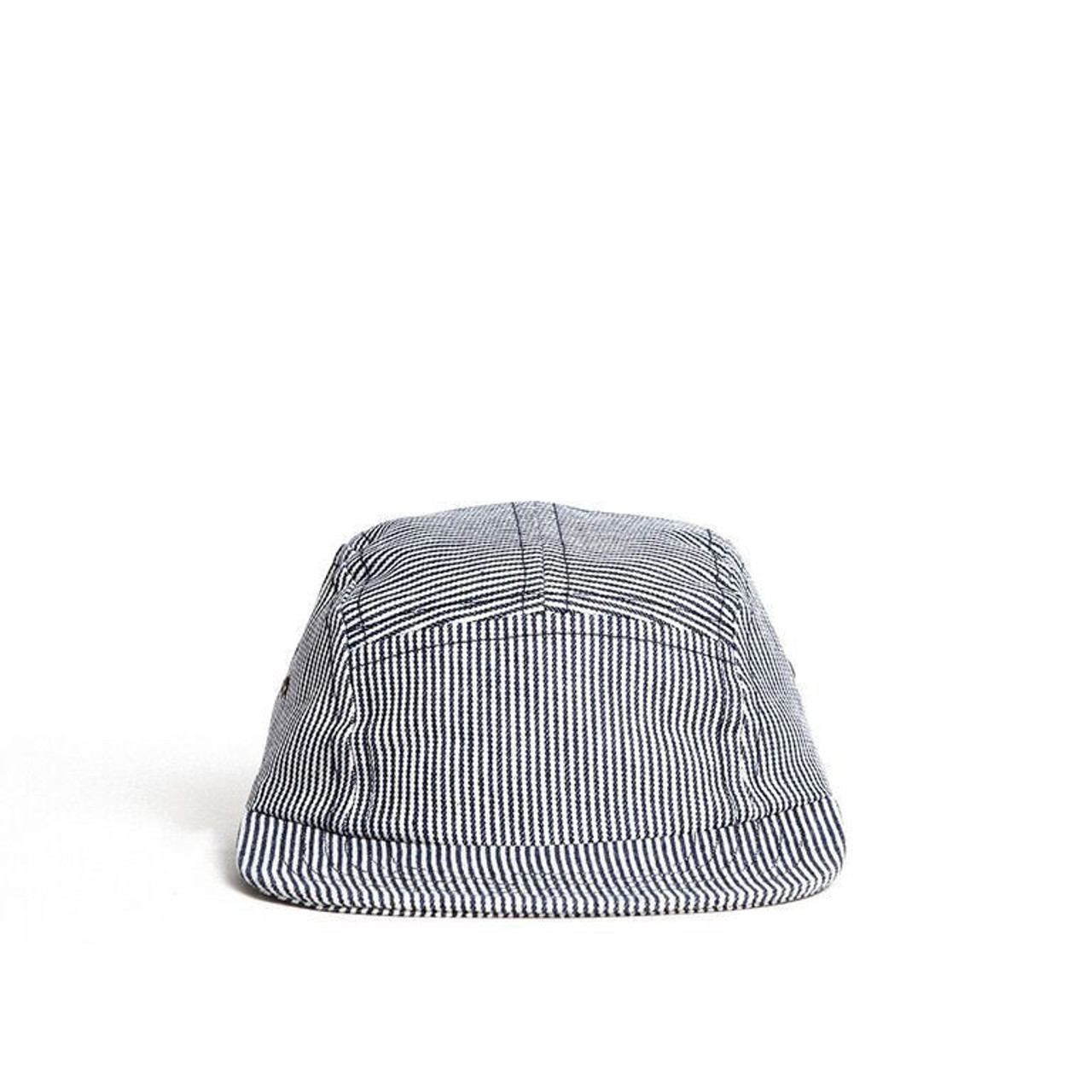 Blue Hickory Stripe Youth Camp Cap