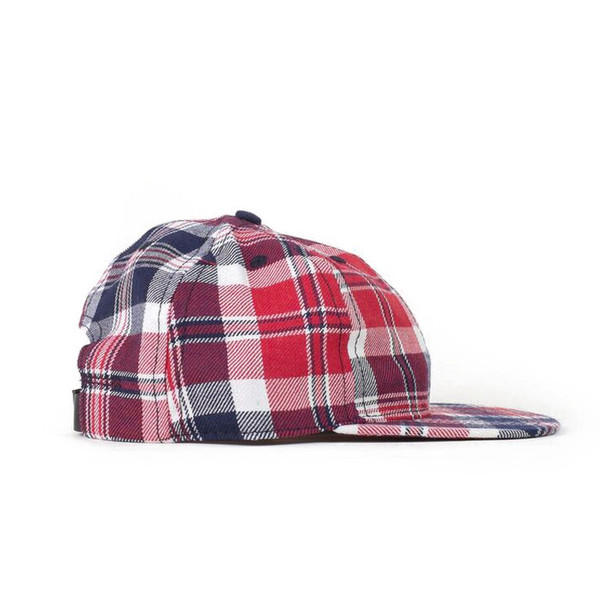 Red White & Blue Plaid Ball Cap