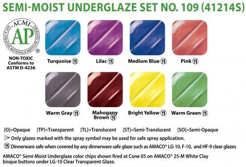 Watercolor Underglazes Set 109