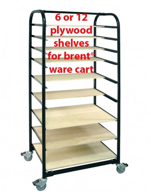 Brent Ware Cart Shelves, Set Of 12