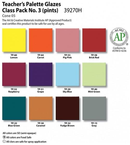 Teacher's Palette Class Pack #3 Set Of 12 Pints