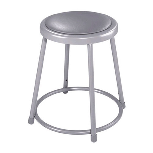 """18"""" Fixed Height Stool with Padded Seat"""