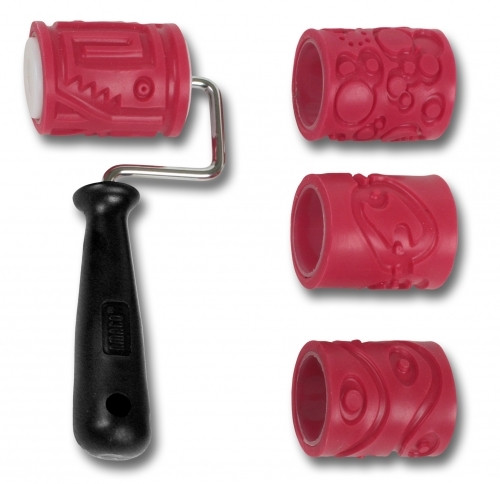 AMACO 2 Textured Roller - Class Pack 1 Handle & 4 Sleeves