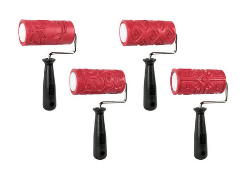 AMACO Textured Roller - Class Pack 4 Handles & 4 Sleeves