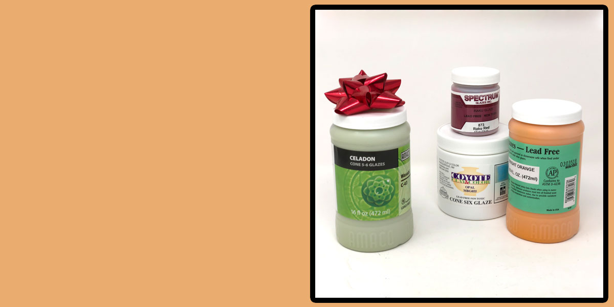 Buy any 3 glazes get one free during June!