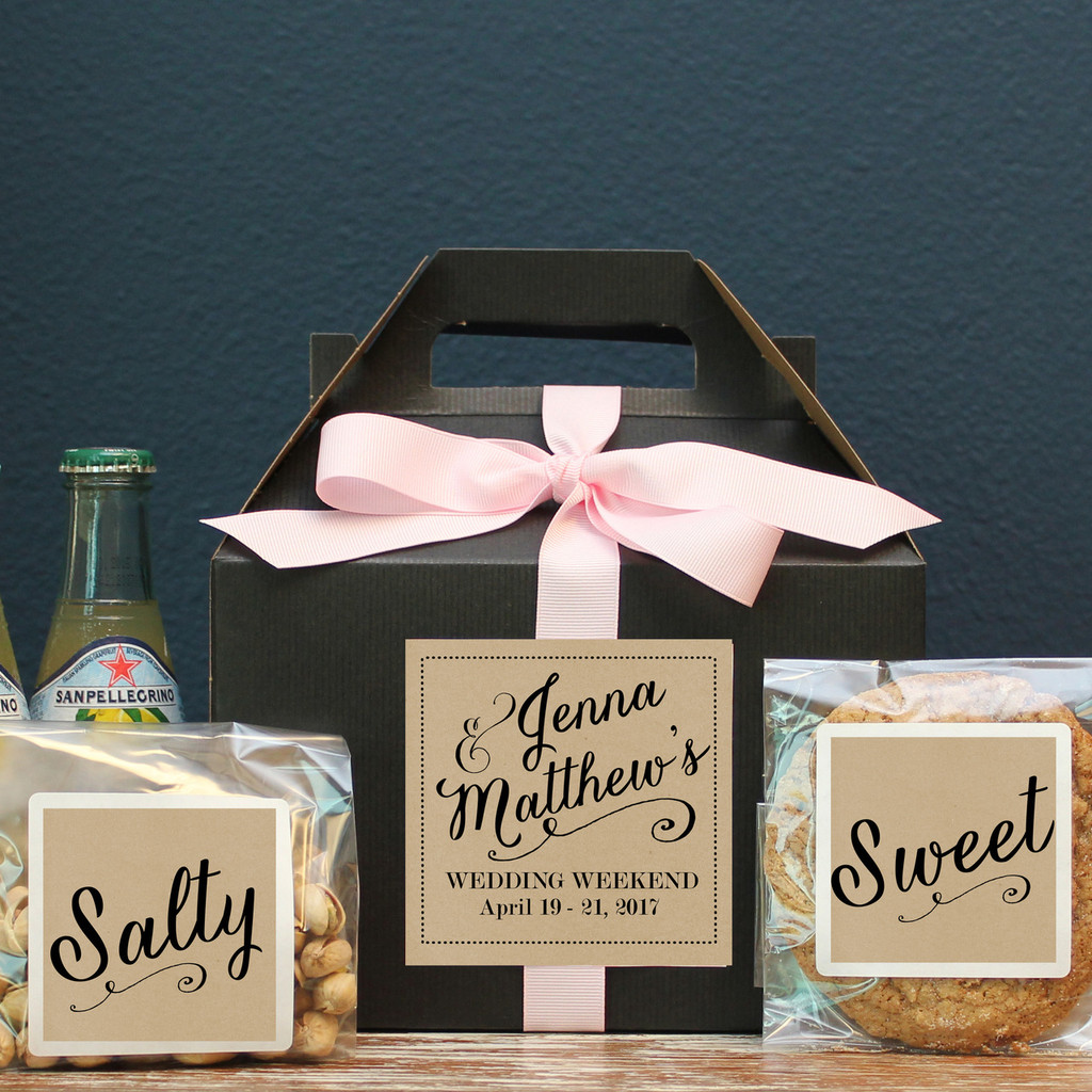 Wedding Welcome Boxes - Jenna Label