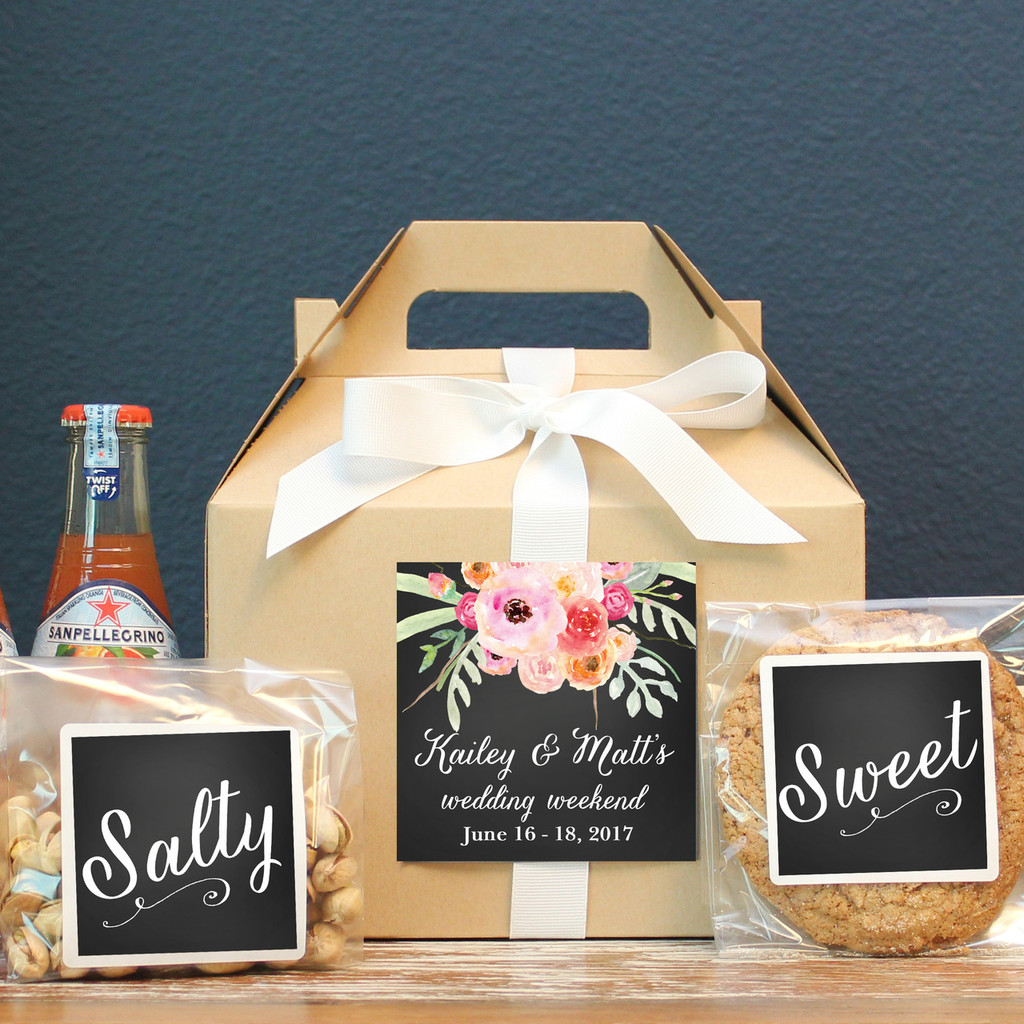 Wedding Welcome Boxes - Bouquet Label