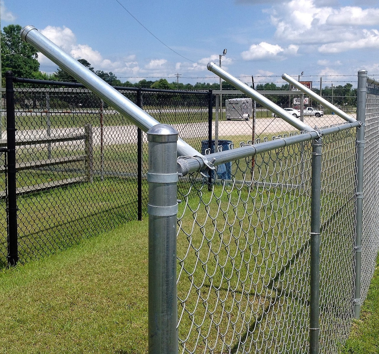 chain link fence post. Fine Chain ExtendAPost  Extensions For Chain Link Fence Set Of 9 Throughout Post The Department