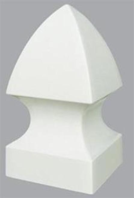 Pvc Flat Pyramid External Post Cap 4 Quot X 4 Quot 6 Pieces