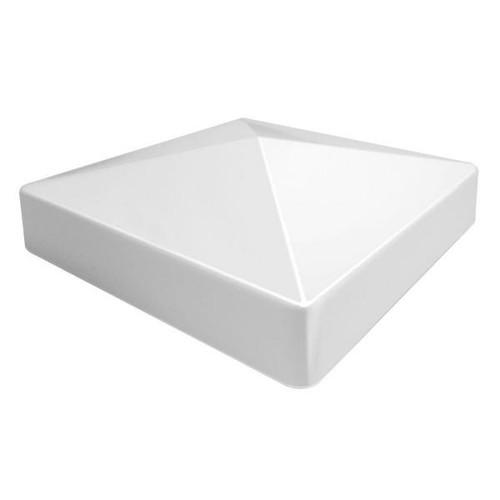 Pvc Flat Pyramid External Post Cap 3 1 2 Quot X 3 1 2 Quot 6