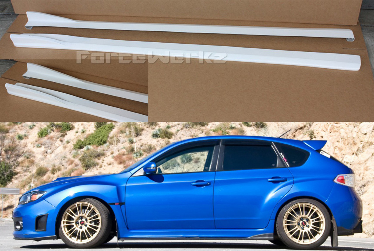 2008 2013 subaru impreza wrx sti cs side skirts. Black Bedroom Furniture Sets. Home Design Ideas