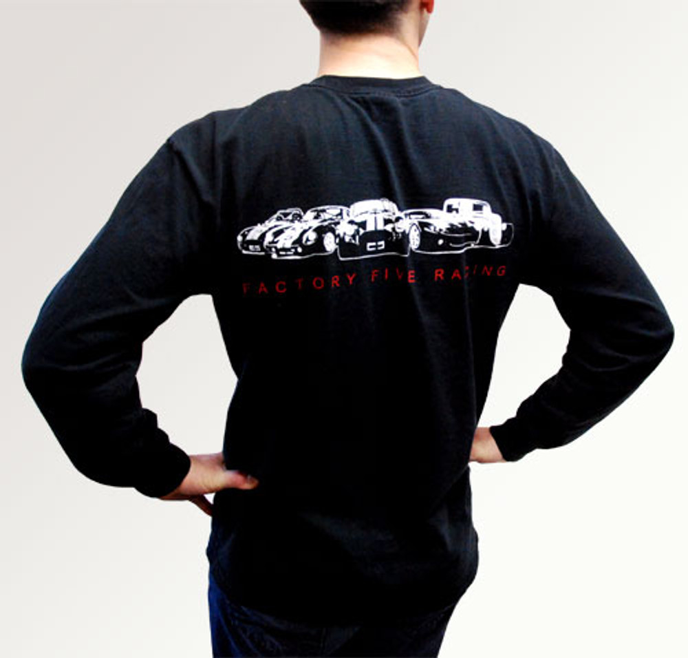 #15416 - Factory Five T-Shirt w/ Five Cars on Back - Long Sleeve