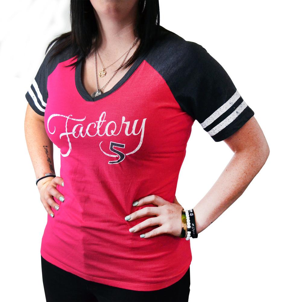 Women's Watermelon Pink & Gray Baseball T-Shirt