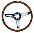 """#12239 - 14"""" Wood Rimmed Steering Wheel"""