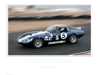 #14883 - Type 65 Coupe Racing Lithograph, Serial Numbered 1 of 499